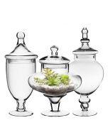apothecary jars set of 3