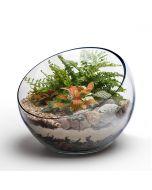 slant cut glass bowl