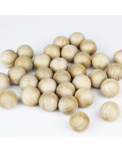 1.25 inch wood balls