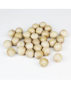 1 inch wood balls