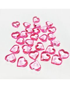 pink acrylic heart shape vase fillers