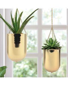 hanging aluminum planters
