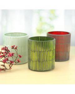 tealight glass candleholders