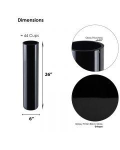 black glass cylinder vases