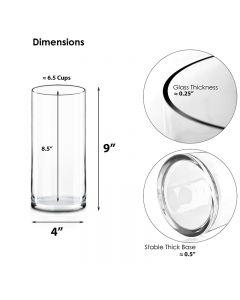 glass cylinder vases wholesale