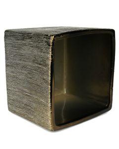 brown square vase