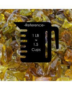 amber fire pit glass