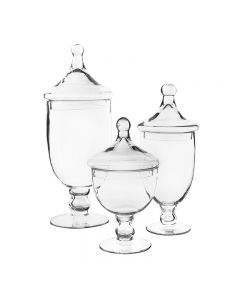 glass apothecary jar candy buffet containers lid