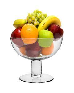 glass fruit bowls pedestal footed