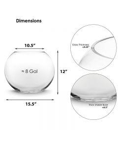 jumbo glass bubble bowl