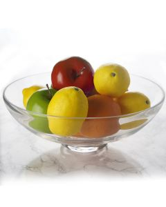 """Glass Footed Fruit Bowl. H-4.5"""" D-12"""" Pedestal Compote Vase"""