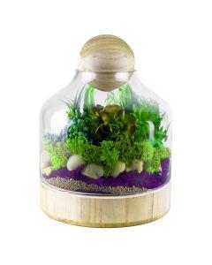 glass terrarium vase with wood stopper wholesale