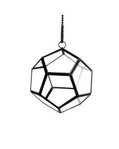 Hanging Terrarium Metal Frame Geometric Vase