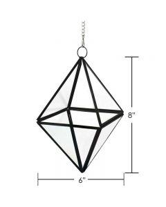Hanging Geometric Terrarium Metal Frame w Chain