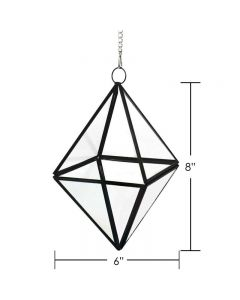 Hanging Geometric Terrarium Metal Frame w/ Chain