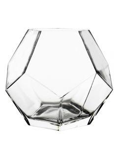 glass geometric prism terrarium vase