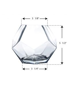 glass geometric terrarium vases