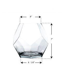 glass geometry terrarium vase