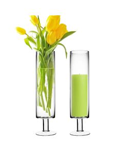 Wholesale Short Stem Glass Candle Holders H-17 Open-4