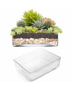 rectangle glass vases