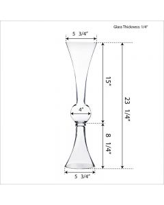 glass trumpet vases mirror reversible tall centerpieces
