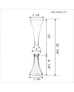 Reversible Clarinet Trumpet Vase H-24-5
