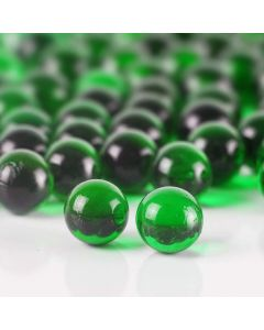 Vase Filler Glass Round Marbles Green, Pack of 26 lbs