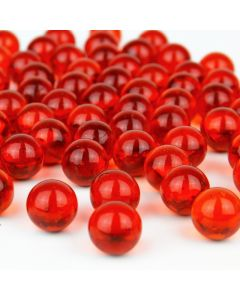 Vase Filler Glass Round Marbles Red, Pack of 26 lbs