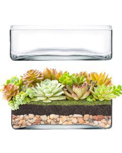 glass square vases