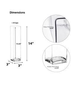 glass square block vases