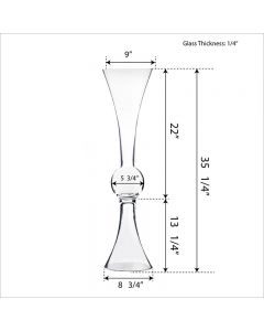 glass trumpet vases centerpieces
