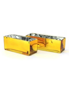 Gold Rectangle Vases