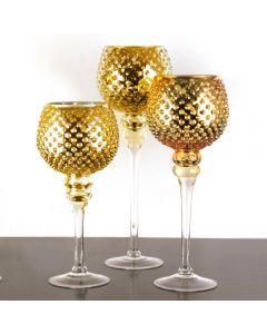 hobnail-gold-glass-candle-holder-set