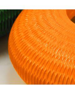 "Poly Resin Oval Carved Vase. H-8"""