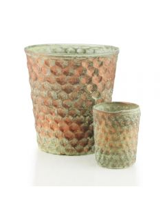 honeycomb-copper-moss-vase