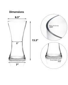 hourglass gathering glass vases