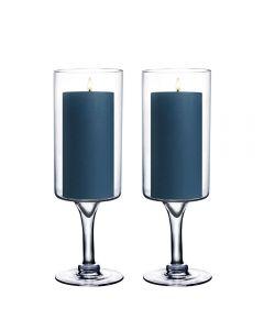 pedestal Glass Stem Candle Holder