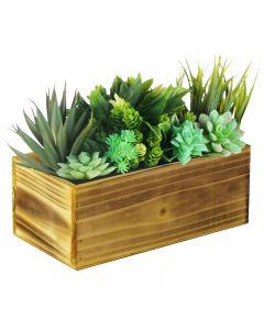 farmhouse wood planters
