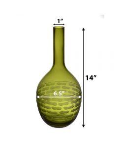 olive green teardrop glass vases bud vase floral art glass