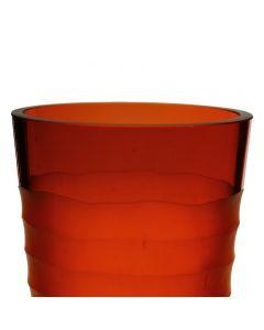 autumn orange vase