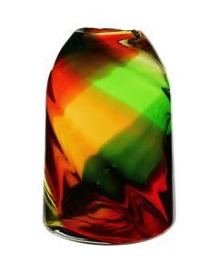 christmas red green vase