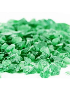 frosted green sea glass