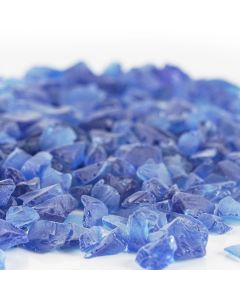 frosted cobalt blue sea glass