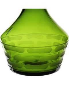 "Teardrop Decorative Vase, Olive Green. H-14"""