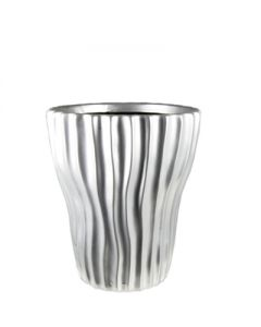 """8"""" Tapered Planter Pot with Wavy Stripe."""
