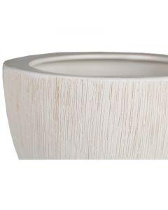 "Ceramic Planter Pot Satin White H-7"""