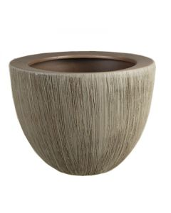 "Ceramic Planter Pot Satin Brown. H-5.25"""