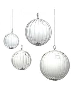 "Hanging Glass Globe H-6"", Pack of 6"