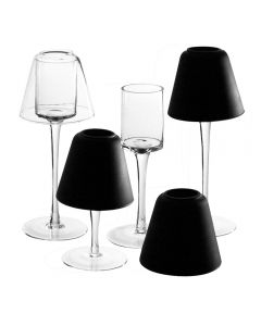 lamp shade candle holders