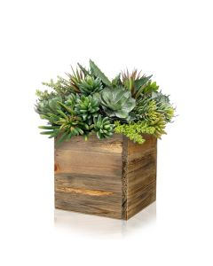 wood-cube-box-planters-with-zinc-liner-ZWCB050505